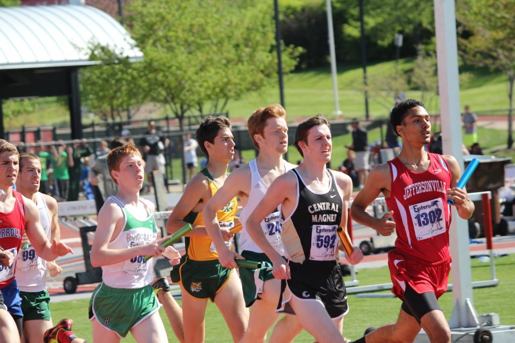 Senior Devon Little, third from the right, was among the Rocks who ran in the Eastern Relays.