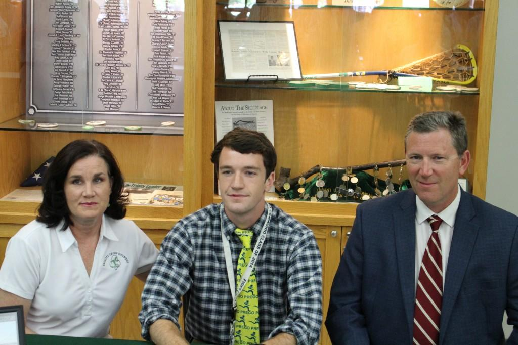 Lee University signee Nick Eckert with parents Wendy and Al