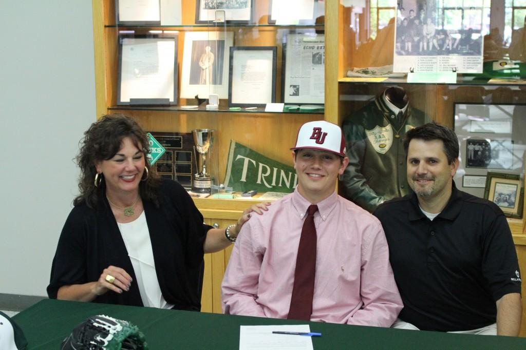 Bellarmine signee Brady Pfaadt with parents Staci and Brian